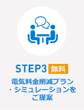 STEP3電気料金削減プラン ・シミュレーションを ご提案